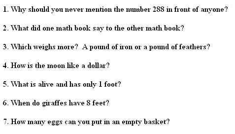 Let's crack some maths riddles.