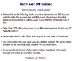 EPF Know your balance instructions