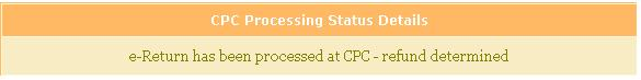 CPC Processing status refund