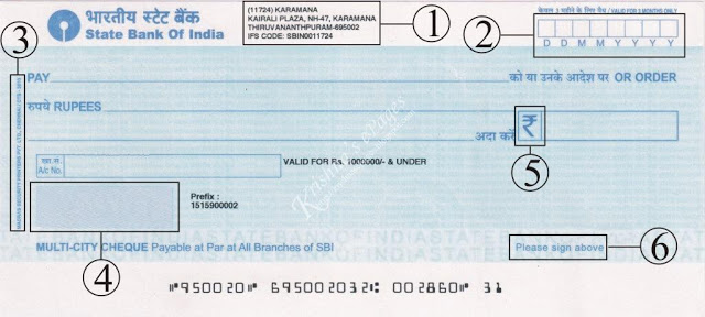 SBI cheque with CTC 2010 compliance