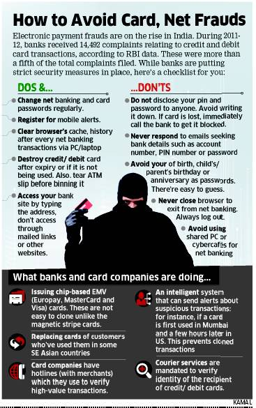How to avoid card and net frauds