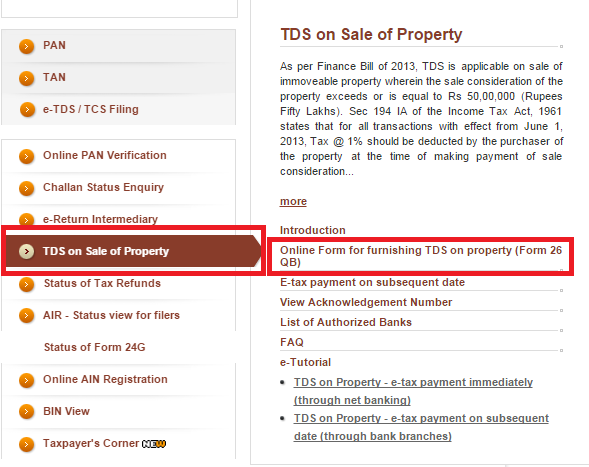 How To Fill Tds On Sale Of Property