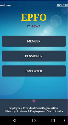 EPF Mobile App for Employees,Pensioners and Employers