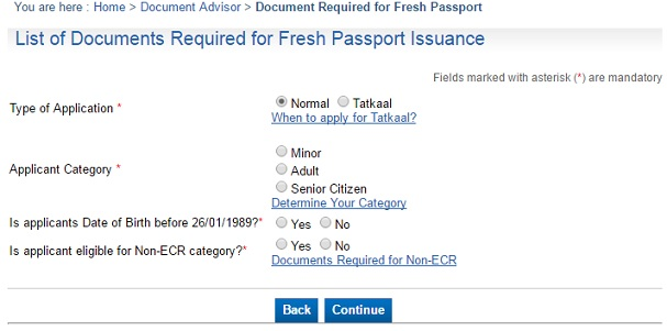 How to apply for passport documents and at passport seva for Documents required for passport online application