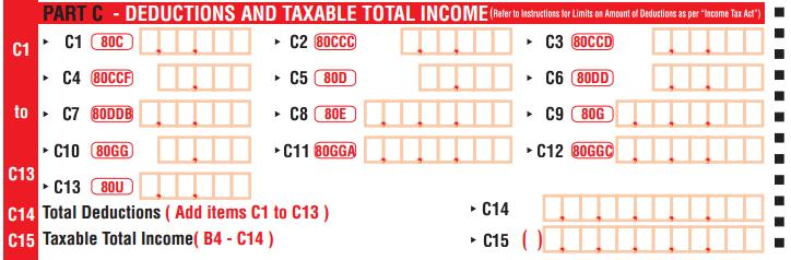 Deductions under chapter VIA in ITR-1 Form
