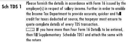 ITR1: Instructions for Sch TDS1