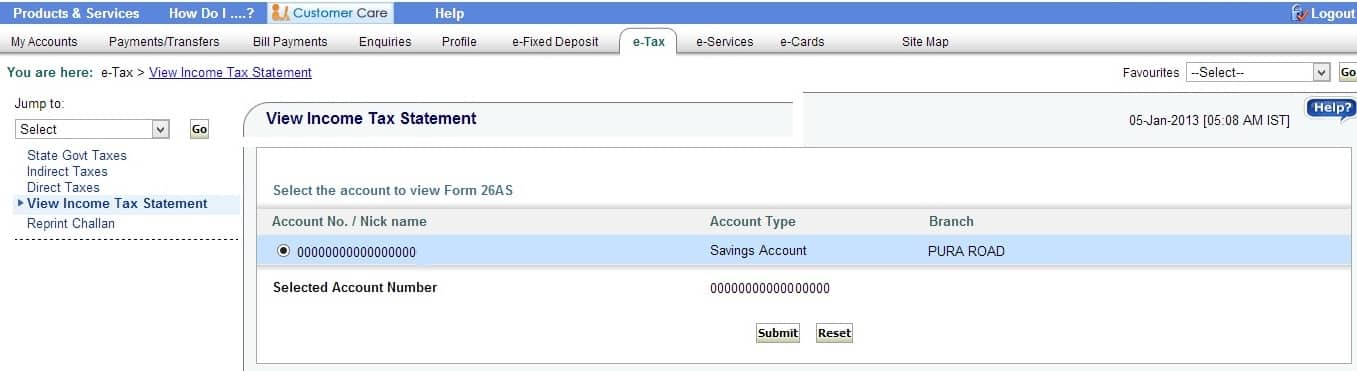 Online SBI Select Account