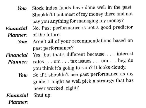 Conversation with Financial Planner