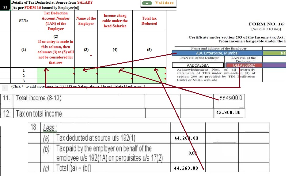 TDS on Salary from Form 16