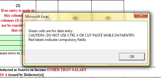 Info on opening excel file