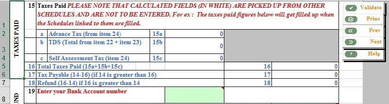 Excel blue cells - which will be filled automatically
