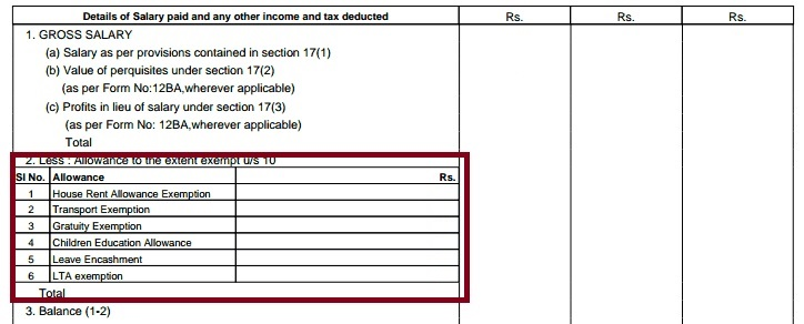 Hra ExemptionCalculationTax And Income Tax Return