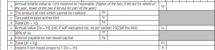 Show Rental income in ITR
