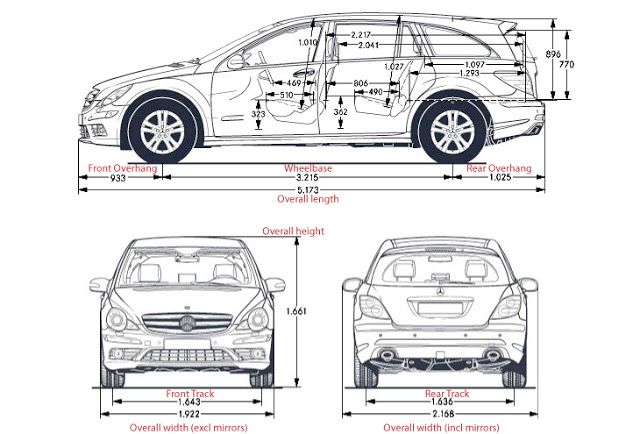 Car Length Wheelbase Track Dimensions