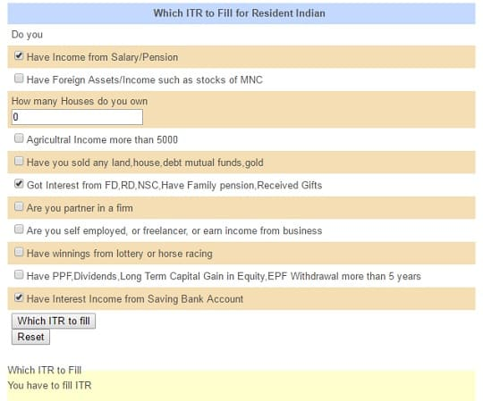 Which ITR to fill for NRI