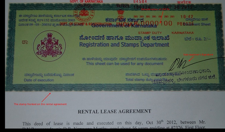 E Stampingfrankingstamp Paper Paying Stamp Duty