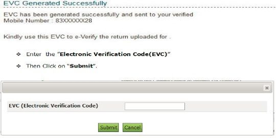 Everify ITR using prevalidated Bank account