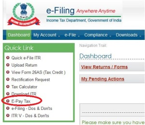 Income Tax Outstanding demand E Pay