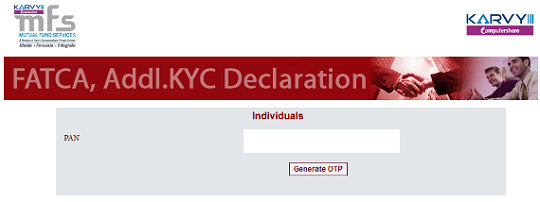 How to fill FATCA and additional KYC for Mutual Funds Online