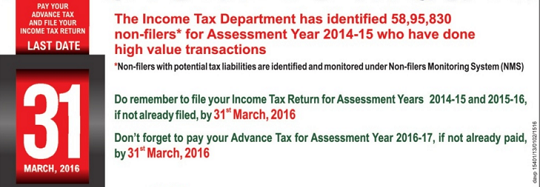 Compliance Income Tax Return Filing Notice