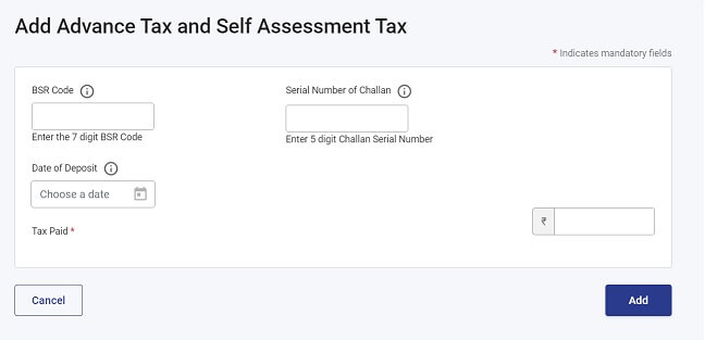 Check Advance and Self Assessment Tax in new ITR