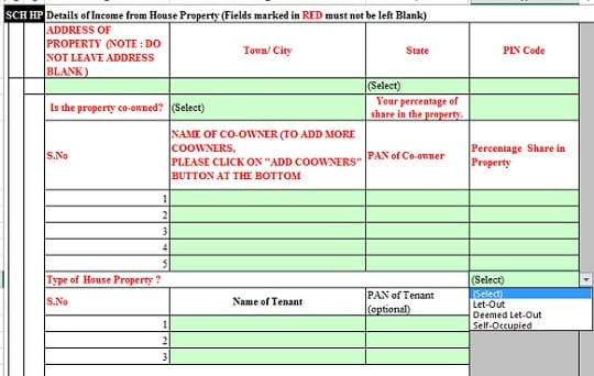 Income From House Property in ITR for more than 1 house
