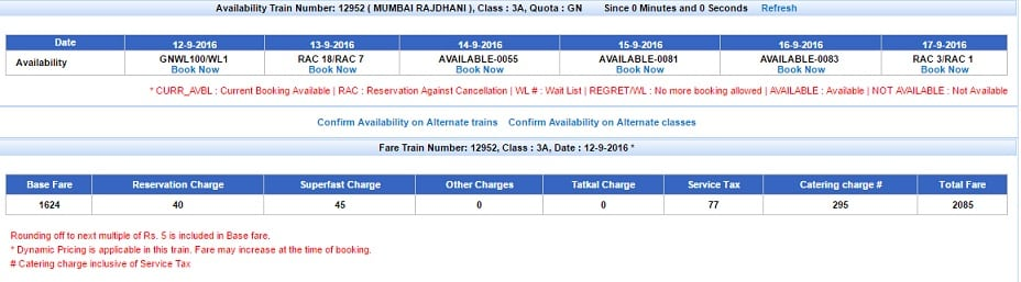 Surge Pricing in Trains,Train Fare,PNR,Types of Trains,Coaches