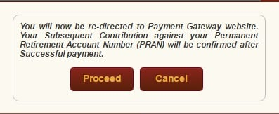 eNPS contribution proceed to payment gateway