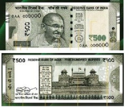 New Rs 500 and Rs 2000 notes : Features,Comparison