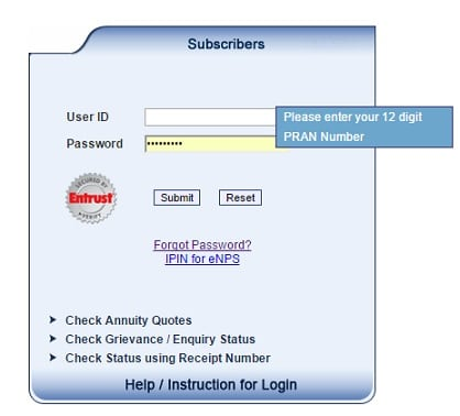 Accessing Nps Account And Cra How To Set Ipin Tpin