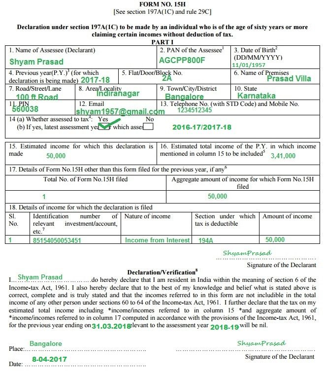 How To Fill Form G How To Fill Form H