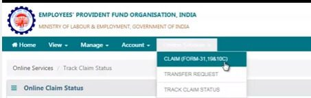 EPF Online Withdrawal