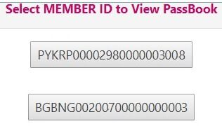 Passbook of EPF account of both new and old employer