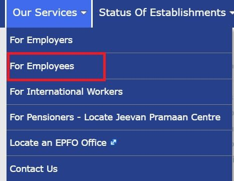 EPF Services for employees