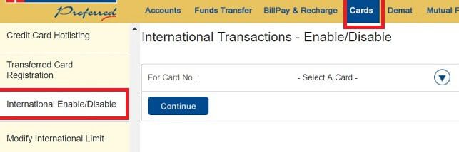 Enable Credit Card for International use