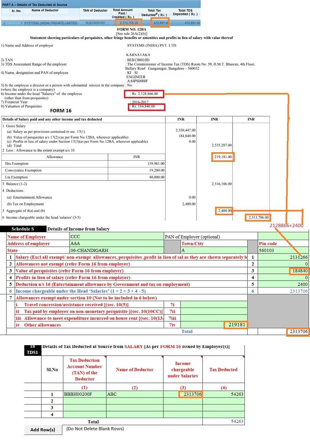 Income Tax Notice Form 26AS revise ITR2 with Perquisites