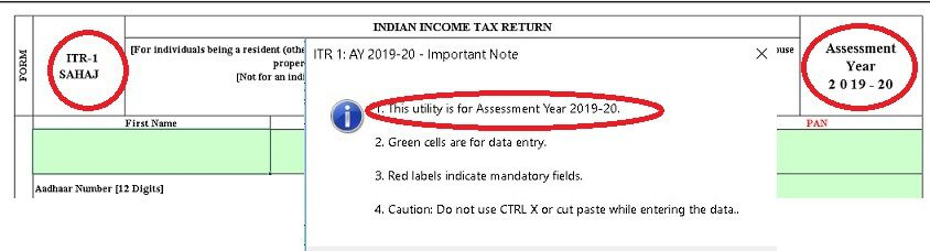 Mistakes while Filing ITR : Choose correct Assessment Year, ITR