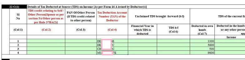 TDS details from others in prefilled XML
