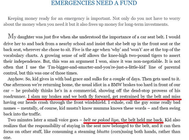 Need for Emergency Fund from Lets Talk Money