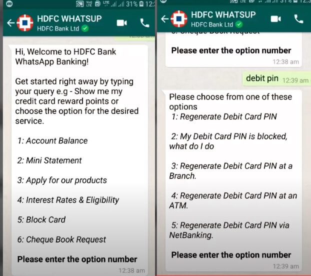 WhatsApp Banking : Features, How to use, HDFC Bank, ICICI Bank, Kotak Bank  etc,