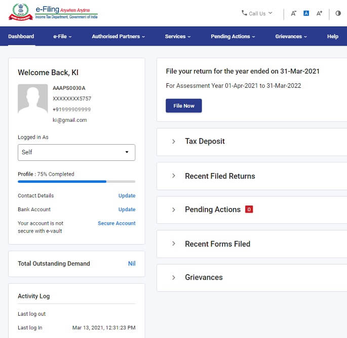 New Income Tax Website 2.0 is simple and clean